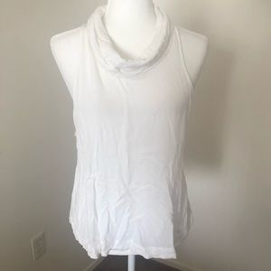 Free People Cowl Neck White Tank Top